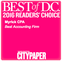 Myrick CPA is Best Accounting Firm in DC in 2016