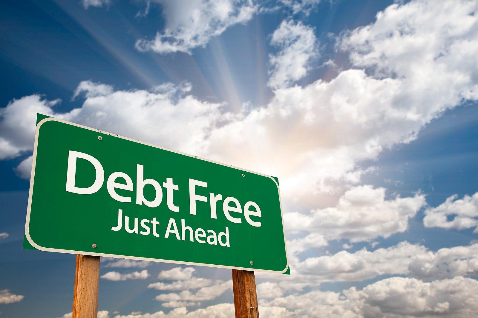 Debt-Free-Green-Road-Sign-myrick-cpa-dc